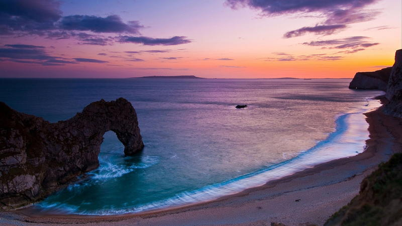 Wallpapers - Mysterious places and the sea at dusk Nature, Sea, Sunset, Sunrise, Twilight, Mysterious 204878534