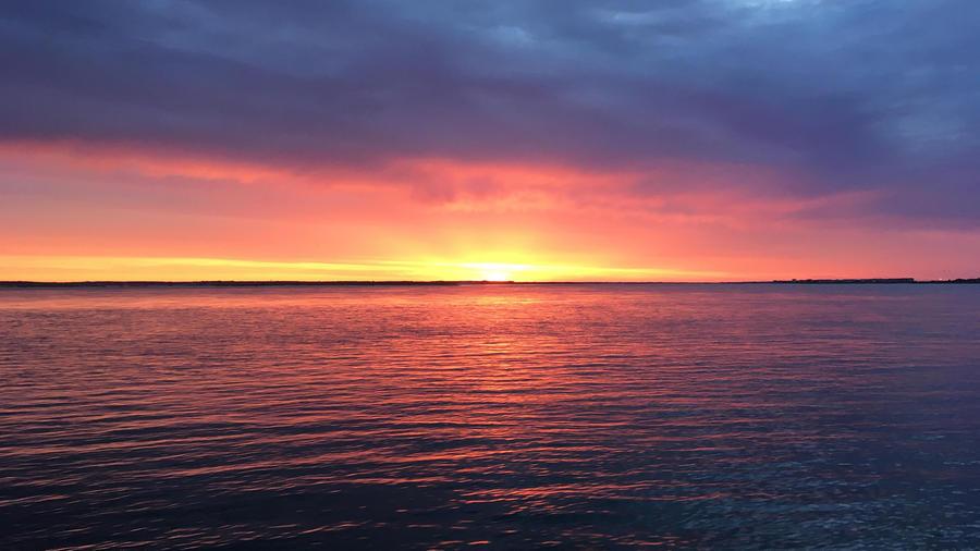 Шпалери красивого моря перед заходом сонця Природа, Море, Захід Сонця, Схід Сонця id44011658