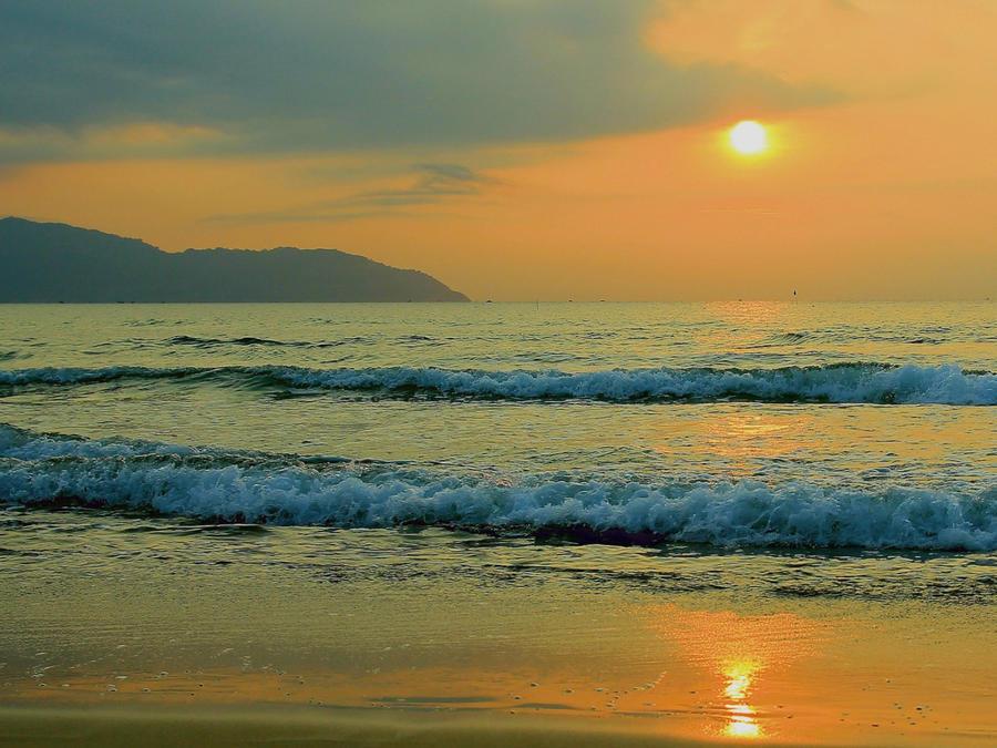 Шпалери красивого моря перед заходом сонця Природа, Море, Захід Сонця, Схід Сонця id1416984373