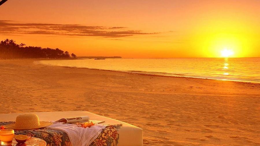 Wallpaper of a beautiful sea at sunset Nature, Sea, Sunset, Sunrise id524982063