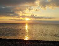 Шпалери красивого моря перед заходом сонця Природа, Море, Захід Сонця, Схід Сонця id2134135277